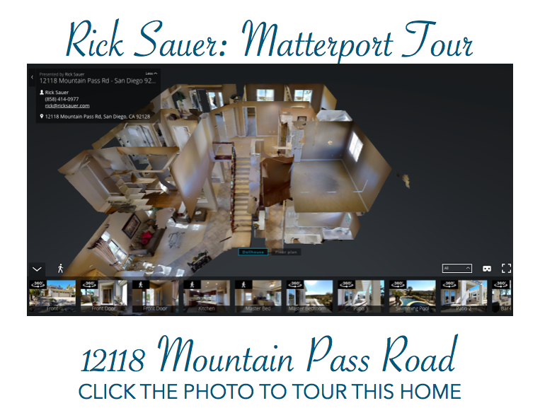 Rick Sauer, example of Matterport Tour for a listing
